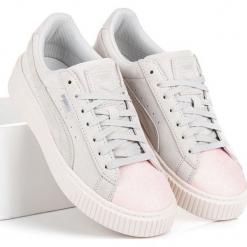 Buty dziecięce Suede Platform Glam Jr białe r. 38. Białe buciki niemowlęce chłopięce Puma. Za 353,56 zł.