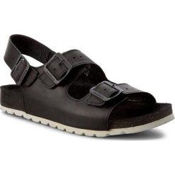 Sandały WOJAS - 6303-91 Czarny. Czarne sandały męskie skórzane Wojas. W wyprzedaży za 199,00 zł.
