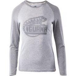 Bluzki asymetryczne: IGUANA Koszulka damska Themba light grey melange/grey melange r. XL
