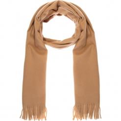 Beżowy miękki szal z frędzlami QUIOSQUE. Brązowe szaliki damskie QUIOSQUE, ze skóry. Za 79,99 zł.