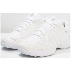 KSWISS HYPERCOURT EXPRESS HB  Obuwie do tenisa Outdoor white/highrise. Białe buty do tenisa męskie K-SWISS. W wyprzedaży za 441,75 zł.