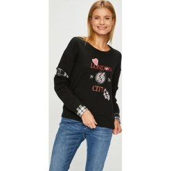 Silvian Heach - Bluza. Czarne bluzy z nadrukiem damskie marki Silvian Heach, l, z bawełny, bez kaptura. Za 379,90 zł.