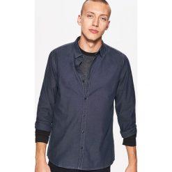 Gładka koszula slim fit - Szary. Szare koszule męskie slim marki House, l, z bawełny. Za 69,99 zł.
