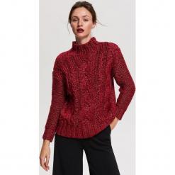 Sweter z domieszką wełny i moheru - Bordowy. Szare swetry klasyczne damskie marki Reserved, l, z moheru. Za 179,99 zł.