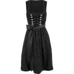 Sukienki balowe: Sukienka ludowa z fartuchem z koronki, długość do kolan bonprix czarny