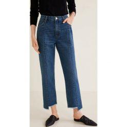 Mango - Jeansy Straight. Niebieskie jeansy damskie z wysokim stanem Mango. Za 139,90 zł.
