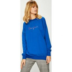 Answear - Bluza. Niebieskie bluzy z nadrukiem damskie ANSWEAR, l, z bawełny, bez kaptura. Za 69,90 zł.