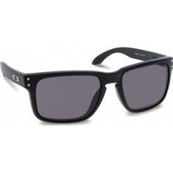 Okulary przeciwsłoneczne OAKLEY - Holbrook OO9102-01 Matte Black/Warm Grey. Czarne okulary przeciwsłoneczne męskie aviatory Oakley, z tworzywa sztucznego. W wyprzedaży za 419,00 zł.
