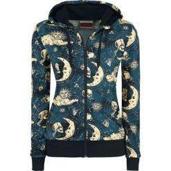 Odzież damska: Jawbreaker Moonstone Hoodie Bluza z kapturem rozpinana damska niebieski