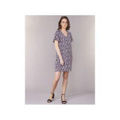 Sukienki krótkie Vero Moda  VMKARINA. Niebieskie sukienki mini Vero Moda, l, z krótkim rękawem. Za 143,20 zł.