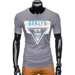 T-shirty męskie z nadrukiem: T-SHIRT MĘSKI Z NADRUKIEM S939 – SZARY