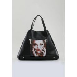 Shopper bag damskie: Shopper bag z printem