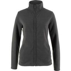 Bluza rozpinana z polaru z wpuszczanymi kieszeniami bonprix szary melanż. Czarne bluzy sportowe damskie marki DOMYOS, z elastanu. Za 44,99 zł.