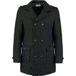 KIOMI Płaszcz wełniany /Płaszcz klasyczny black. Czarne płaszcze na zamek męskie KIOMI, m, z materiału, klasyczne. W wyprzedaży za 407,20 zł.