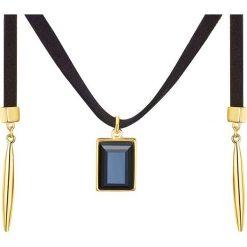Naszyjniki damskie: Naszyjnik w kolorze czarno-złotym z zawieszką – dł. 132,5 cm