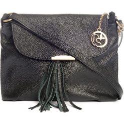 Torebki klasyczne damskie: Skórzana torebka w kolorze czarnym – 27 x 22 x 10 cm