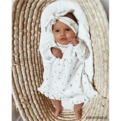 Sukienki niemowlęce: Sukienka ecru MY HEARTS (bez opaski)