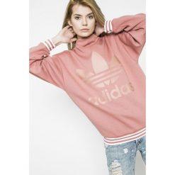 Adidas Originals - Bluza. Szare bluzy sportowe damskie adidas Originals, z nadrukiem, z bawełny, bez kaptura. W wyprzedaży za 239,90 zł.