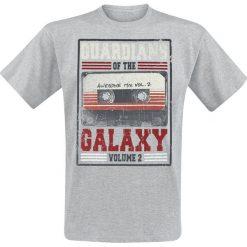 T-shirty męskie z nadrukiem: Guardians Of The Galaxy 2 - Awesome Mix Vol.2 T-Shirt odcienie szarego