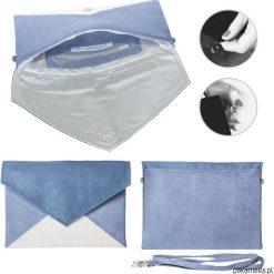 Torebki i plecaki damskie: Kopertówka Letter granatowa niebieska ecru