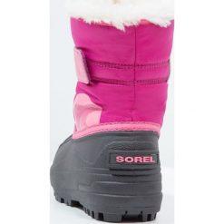 Sorel Śniegowce tropic pink/deep blush. Czerwone kozaki dziewczęce Sorel, z materiału. Za 229,00 zł.