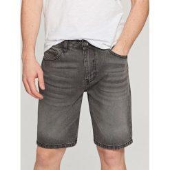 Spodenki i szorty męskie: Szorty jeansowe - Jasny szar