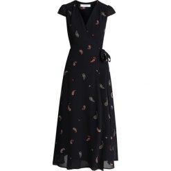 IVY & OAK WRAP DRESS  Długa sukienka black. Czarne długie sukienki IVY & OAK, z materiału, z długim rękawem. Za 629,00 zł.