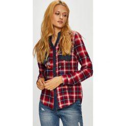 Desigual - Koszula. Szare koszule damskie w kratkę marki Desigual, l, z bawełny, casualowe, z długim rękawem. Za 349,90 zł.