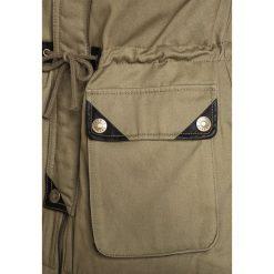 Sisley HEAVY  Parka khaki. Brązowe kurtki dziewczęce Sisley, na zimę, z bawełny. W wyprzedaży za 271,20 zł.