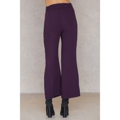 Spodnie z wysokim stanem: Trendyol Szerokie spodnie z wiązaniem w talii - Purple