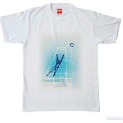 Koszulka SIATKARKA INACZEJ. Białe bluzki z odkrytymi ramionami Pakamera, z nadrukiem, z bawełny. Za 77,00 zł.