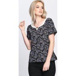 T-shirty damskie: Czarny T-shirt Mould