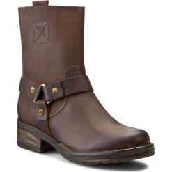 Botki GINO ROSSI - Nuvola DBG036-F42-8500-4000-F C.Czekolada 89. Brązowe buty zimowe damskie Gino Rossi, z materiału, na obcasie. W wyprzedaży za 259,00 zł.