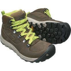 Buty trekkingowe damskie: Keen Buty trekkingowe WESTWARD MID LEATHER WP kolor brązowo-zielony r. 39.5 (WESTWRDMWLT-WN-RVOP)