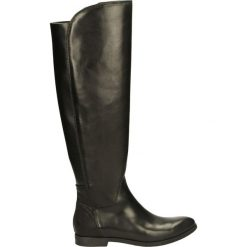 Kozaki ocieplane - 183120FY P NE. Czarne buty zimowe damskie marki Kazar, ze skóry, na wysokim obcasie. Za 279,00 zł.
