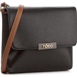 Torebka NOBO - NBAG-E1930-C020 Czarny. Czarne listonoszki damskie Nobo, ze skóry ekologicznej, na ramię. W wyprzedaży za 119,00 zł.