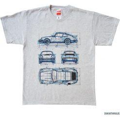 Koszulka PORSCHE 911 GRAY tshirt. Czarne t-shirty męskie marki Pakamera, m, z kapturem. Za 77,00 zł.