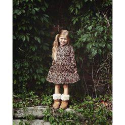 Sukienka dziewczęca Greenery Dress. Brązowe sukienki dziewczęce w kwiaty marki Pakamera. Za 139,00 zł.