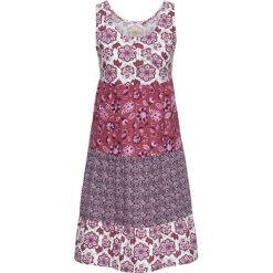 Sukienki hiszpanki: Sukienka bonprix jeżynowy wzorzysty