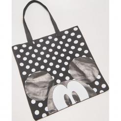 Materiałowa torba Mickey Mouse - Czarny. Czarne torebki klasyczne damskie marki House, z motywem z bajki, z materiału. Za 25,99 zł.