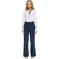 ELAINA Spodnie z szerokimi nogawkami - granatowe. Niebieskie spodnie z wysokim stanem Stylove. Za 139,99 zł.