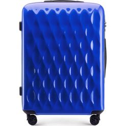 Walizka średnia 56-3H-552-90. Niebieskie walizki marki Wittchen, z gumy, małe. Za 199,00 zł.