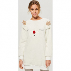 Piżama ze spodniami - Kremowy. Białe piżamy damskie Reserved, m. Za 129,99 zł.
