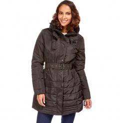Płaszcz w kolorze czarnym. Czerwone płaszcze damskie z futerkiem marki Cropp, na zimę, l. W wyprzedaży za 227,95 zł.