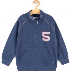 Bluza. Niebieskie bluzy chłopięce rozpinane marki HIGH 5, z aplikacjami, z bawełny, z długim rękawem, długie. Za 49,90 zł.