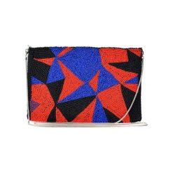 Puzderka: Kopertówka w kolorze czarno-czerwono-niebieskim – (D)25 x (S)15 cm
