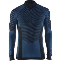 Koszulki do fitnessu męskie: Craft Koszulka Męska Active Intensity Zip Czarna Xl
