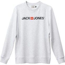 Bluza z okrągłym dekoltem. Czarne bluzy męskie rozpinane marki Jack & Jones, l, z bawełny, z okrągłym kołnierzem. Za 102,86 zł.