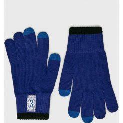 True Spin - Rękawiczki Zaporozhets. Niebieskie rękawiczki męskie True Spin, z dzianiny. W wyprzedaży za 39,90 zł.