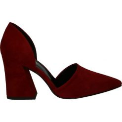 Czółenka - SC893 AMA ROS. Brązowe buty ślubne damskie Venezia, ze skóry. Za 359,00 zł.